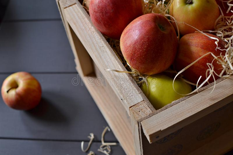 Download Red Apples In A Box Stock Photo - Image: 83710590