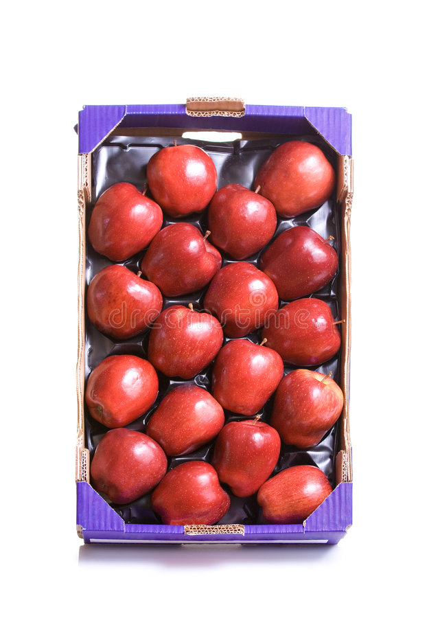 Red Apples In A Crate Stock Images
