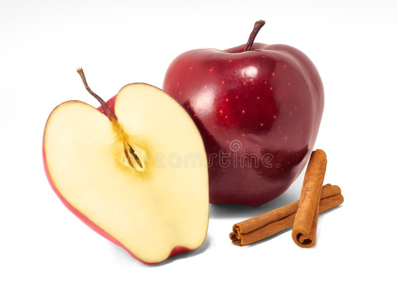 Red apples isolated royalty free stock photos