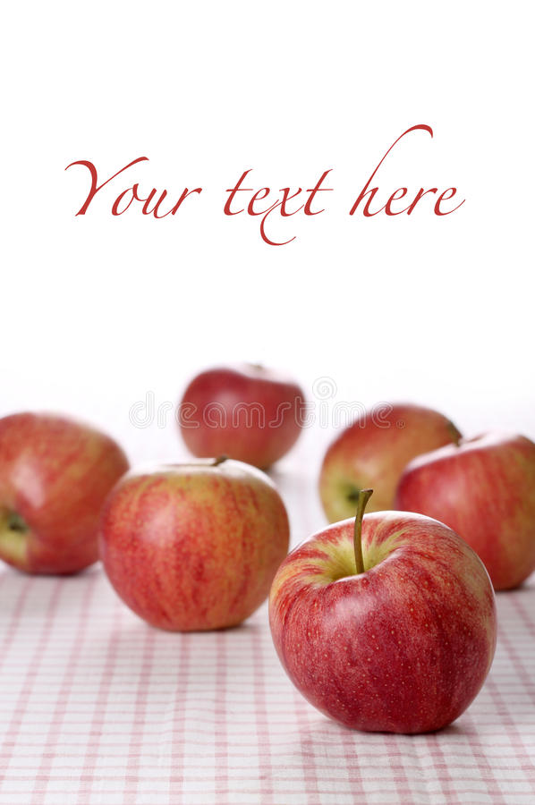 Download Red apples on tablecloth stock photo. Image of concepts - 29081298