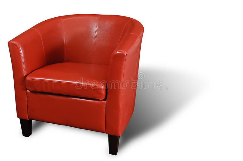 Download Red Armchair stock image. Image of empty, leisure, cozy - 18919673