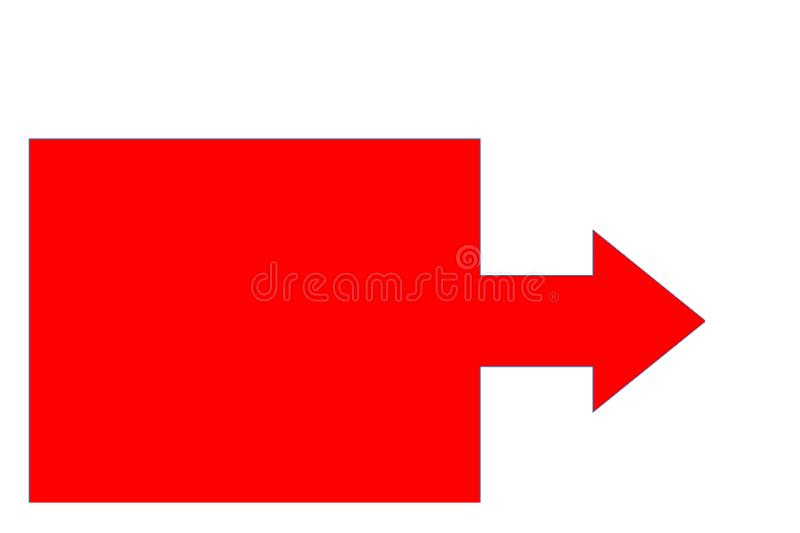 The red arrow– stock illustration. Vector stock illustration