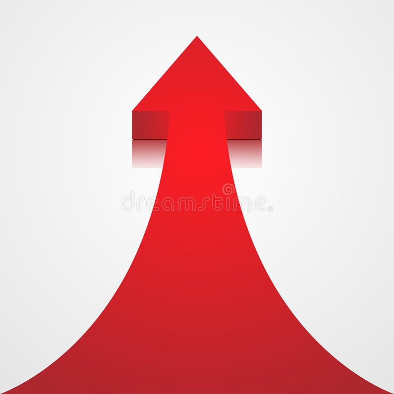 Download Red arrow stock vector. Image of icon, path, moving, gradient - 29014382