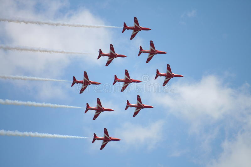 Red Arrow Display royalty free stock photography