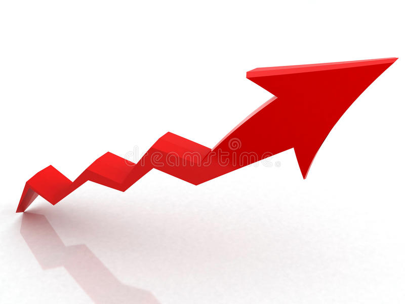 Download Red Arrow growth stock illustration. Image of counter - 15798516