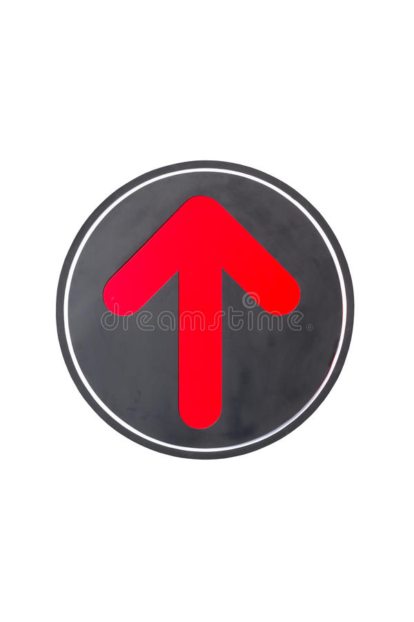 Red arrow icon on white background. Red arrow icon isolated on white background royalty free stock image