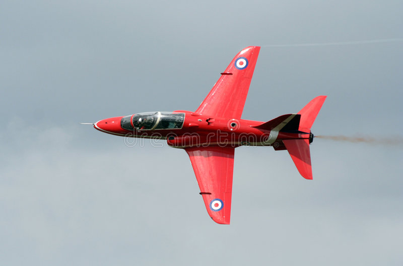 Red arrow jet. stock photo