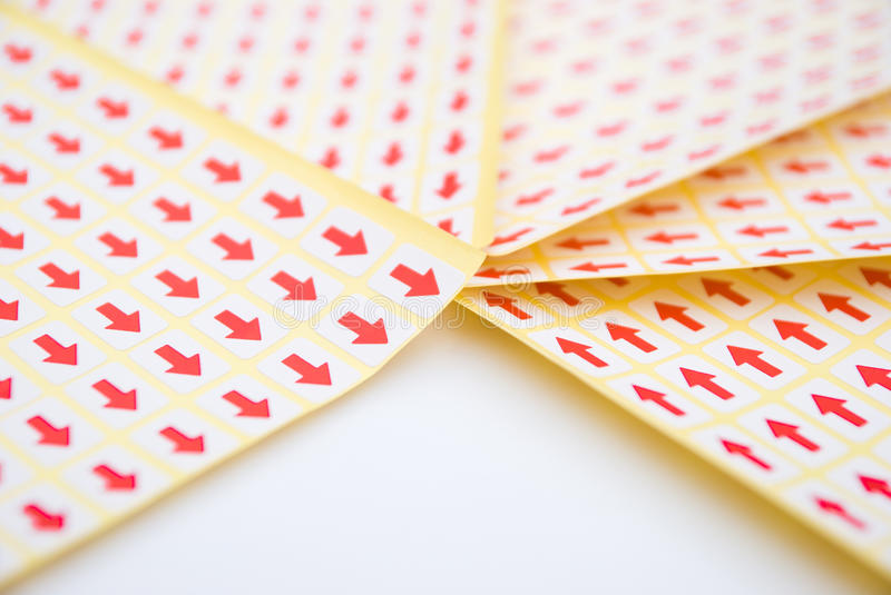 Download Red arrow sticker stock image. Image of label, stack - 24646799