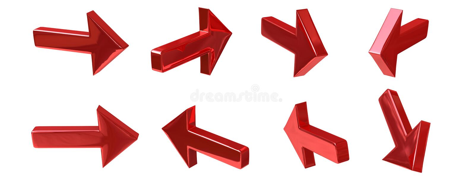 Download Red Arrow stock illustration. Image of arrow, backgrounds - 29932540