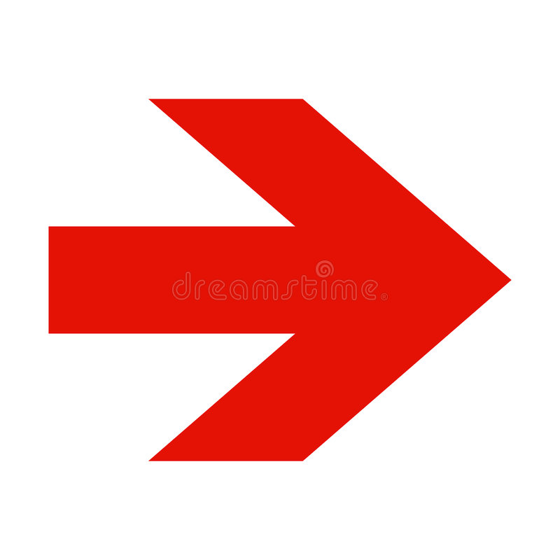 Download Red Arrow On White Background Stock Vector - Image: 8579509