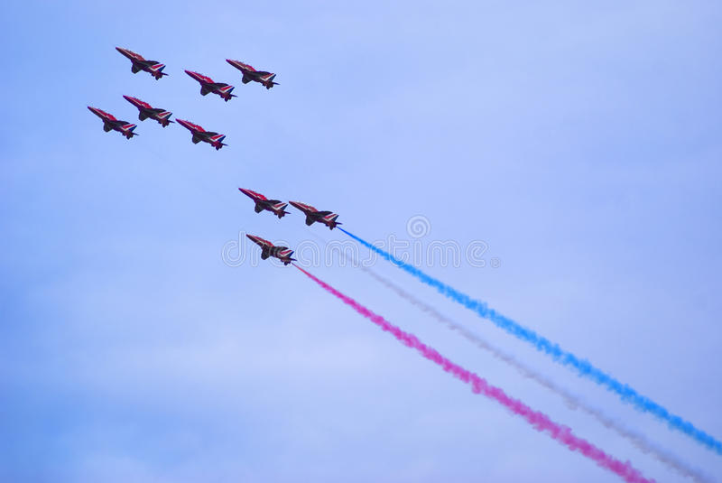 Download Red Arrows editorial photography. Image of force, smoke - 15355642