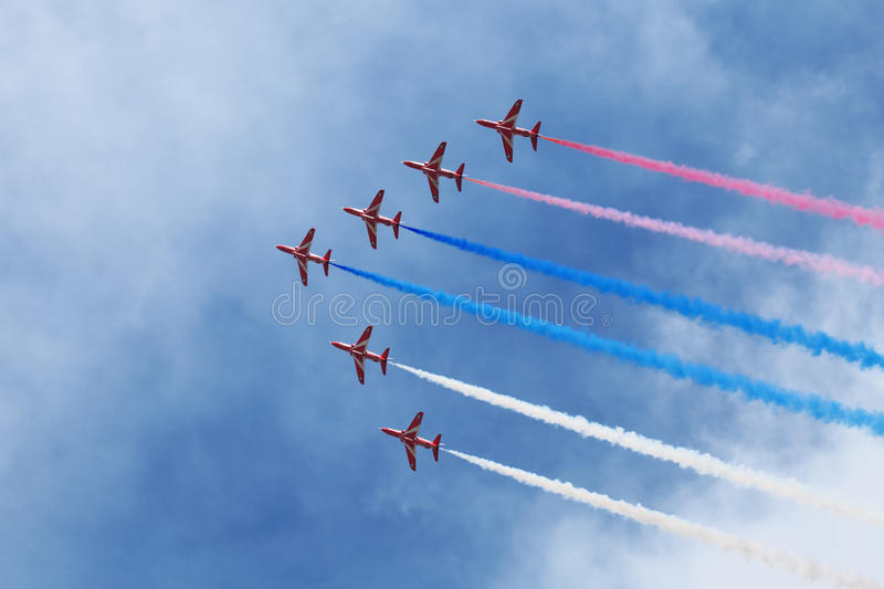 Download Red Arrows editorial stock image. Image of group, anniversary - 27412564