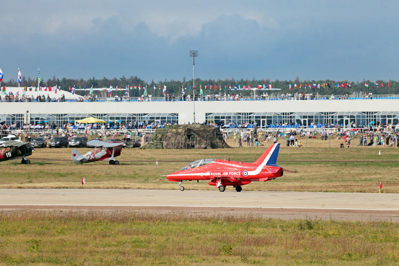 Download Red Arrows editorial stock photo. Image of aerobatic - 27429938