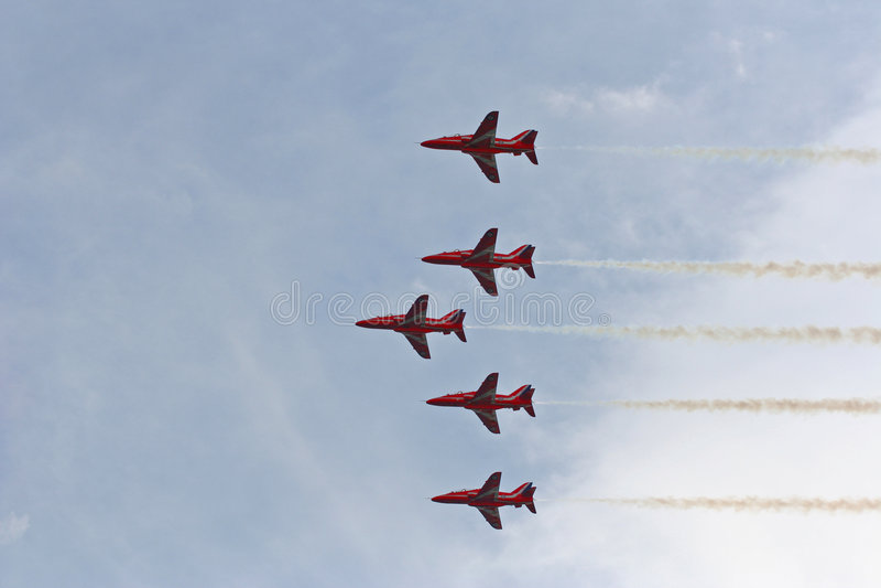 Download Red Arrows Air Show stock image. Image of aerobatics, royal - 228905