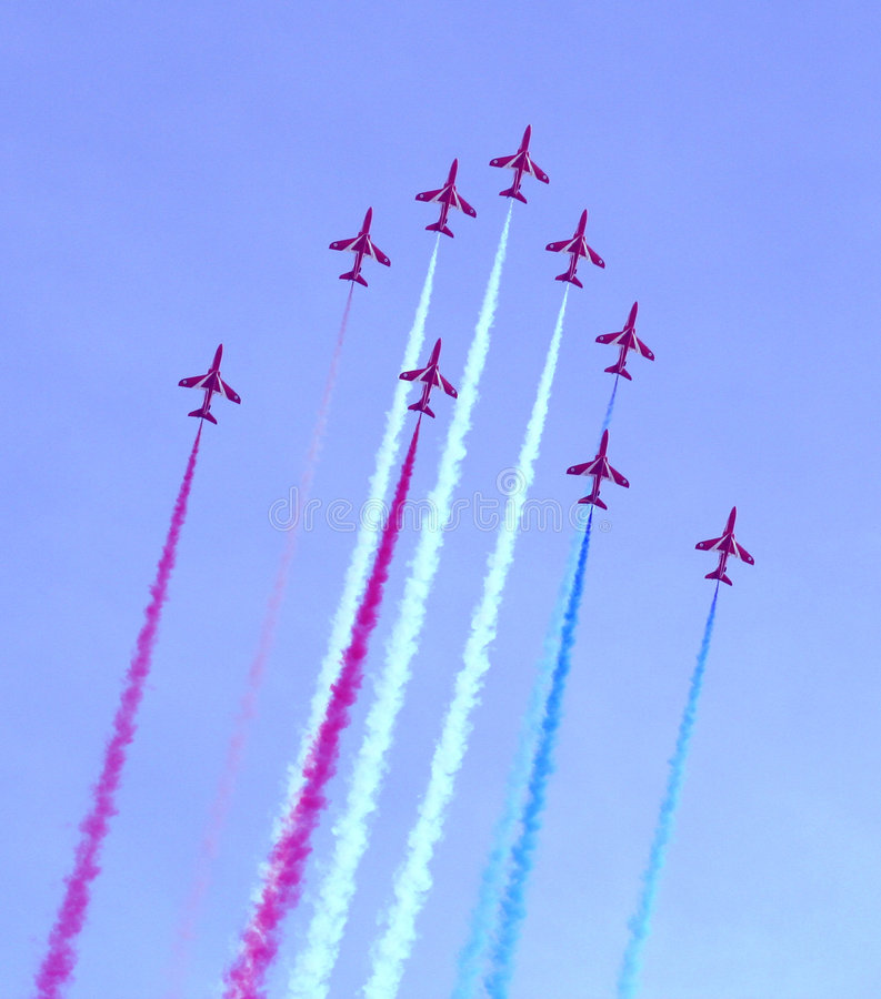 Download Red Arrows Air Show stock image. Image of england, formation - 228917