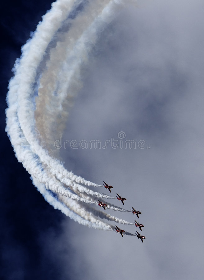 Red Arrows Display Team stock images