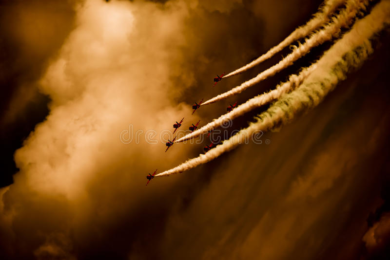Red Arrows Display Team Royalty Free Stock Photos