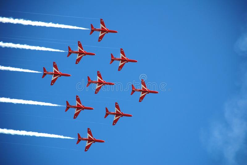 Download The Red Arrows, Eastbourne editorial stock photo. Image of south - 17682933