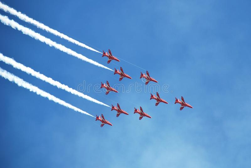 Download The Red Arrows, Eastbourne editorial stock image. Image of stunt - 17842089