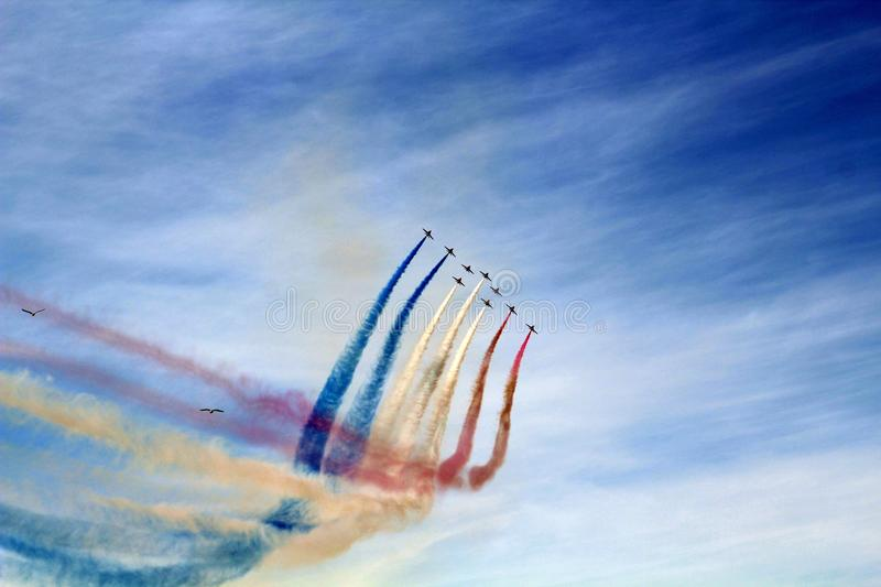 Red Arrows Southport Merseyside. Southport Airshow world Class stock images