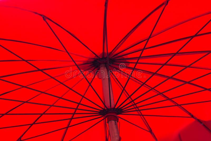 Red Asian Umbrella Stock Photo