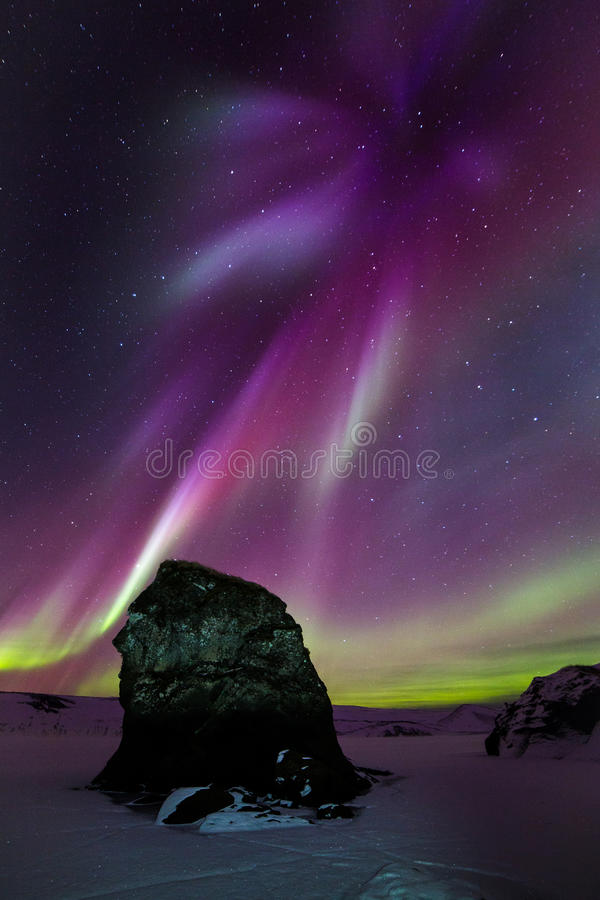 Red Aurora boom royalty free stock images