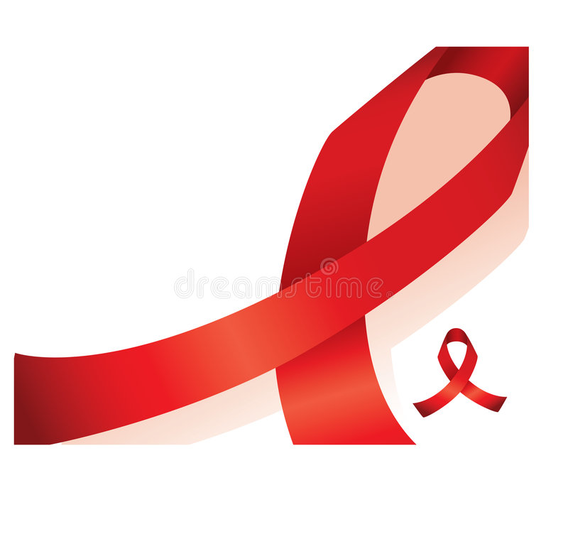 Red Awareness Ribbon Background Royalty Free Stock Photos