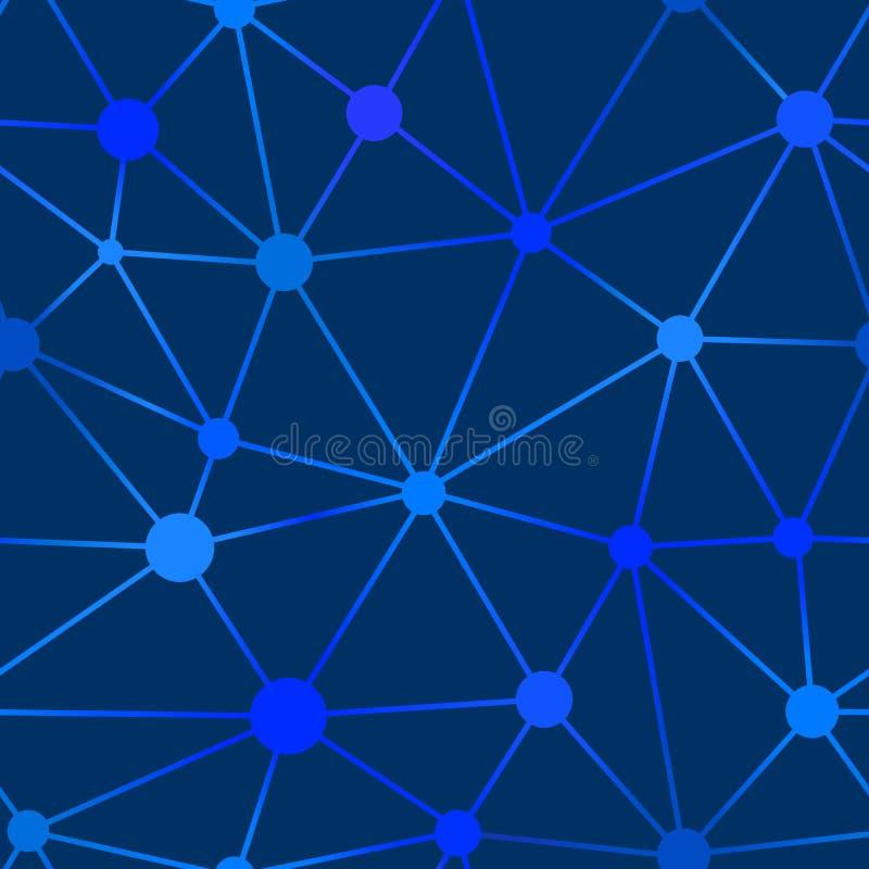 Red azul inconsútil con los puntos y las líneas Forma irregular libre illustration