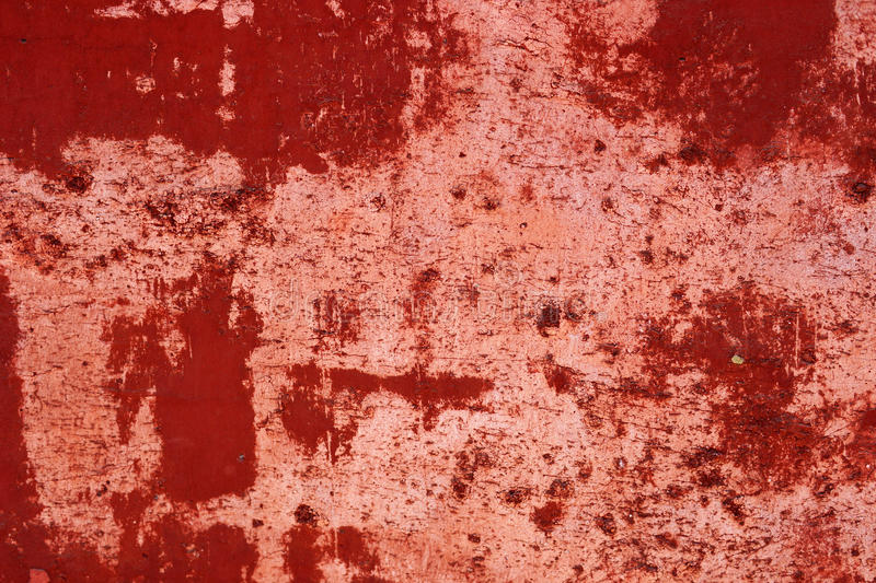 Red background. With some cracks and damaged surface royalty free stock photography