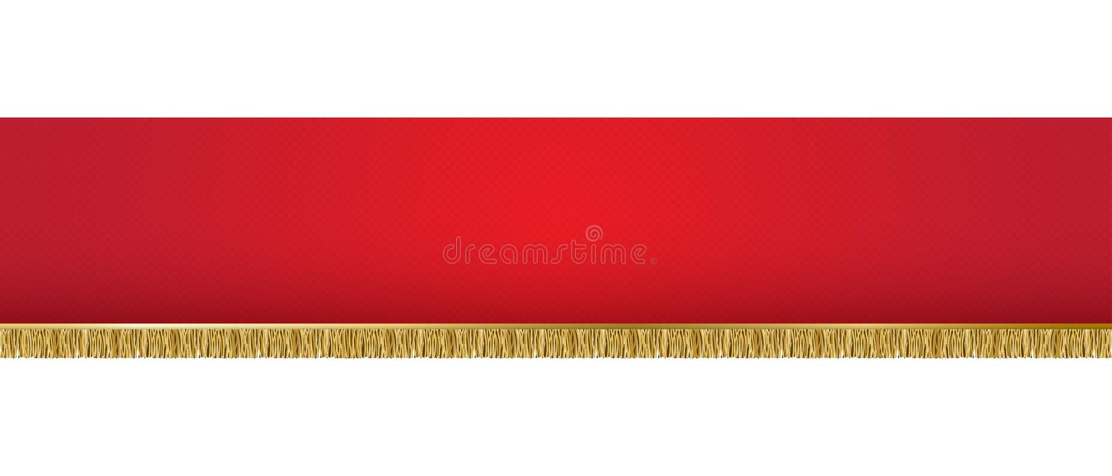 Red background banner. Vector illustration of red background banner stock illustration