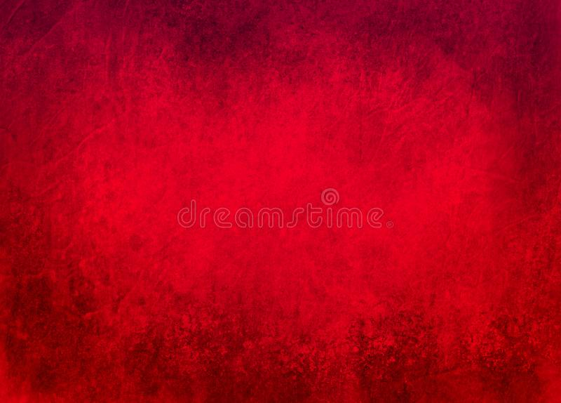 Red background with black grunge borders. Rich texture and Christmas color, elegant old background design vector illustration