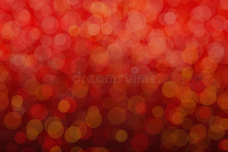 Red background with bokeh effects. St. Valentine`s day postcard. Free Space stock illustration