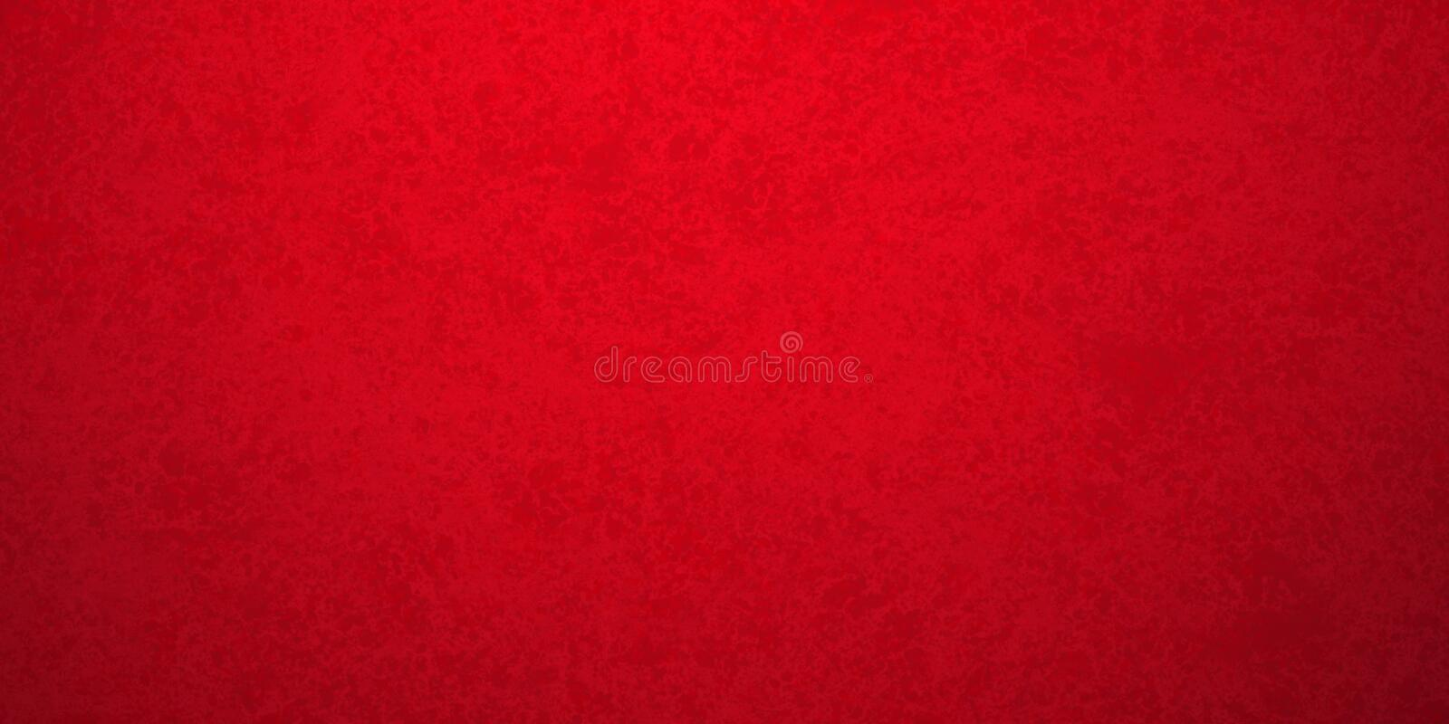 Red background in Christmas or valentines day holiday colors and old vintage texture, red painted plaster wall or metal textured m royalty free stock image