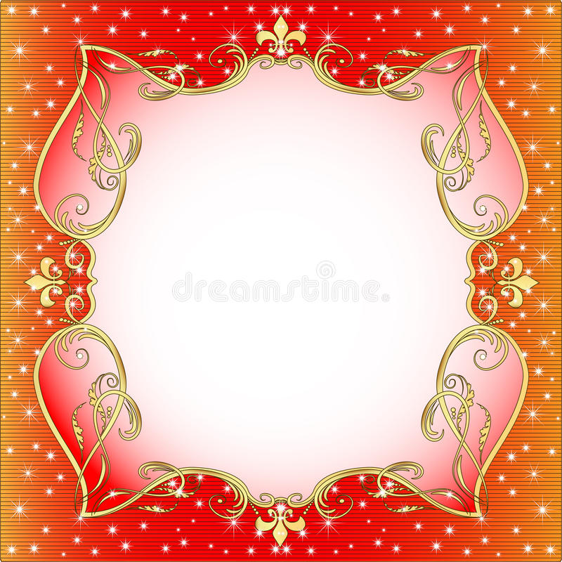 Download Red  Background With Gold (en) An Ornament Stock Vector - Illustration: 26834960
