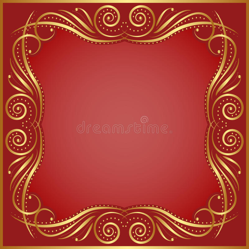 Download Red background stock vector. Image of design, classical - 34325702