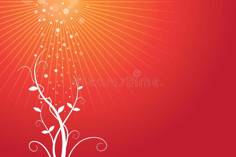 Download Red Background With Growing Plant Stock Vector - Image: 20693250