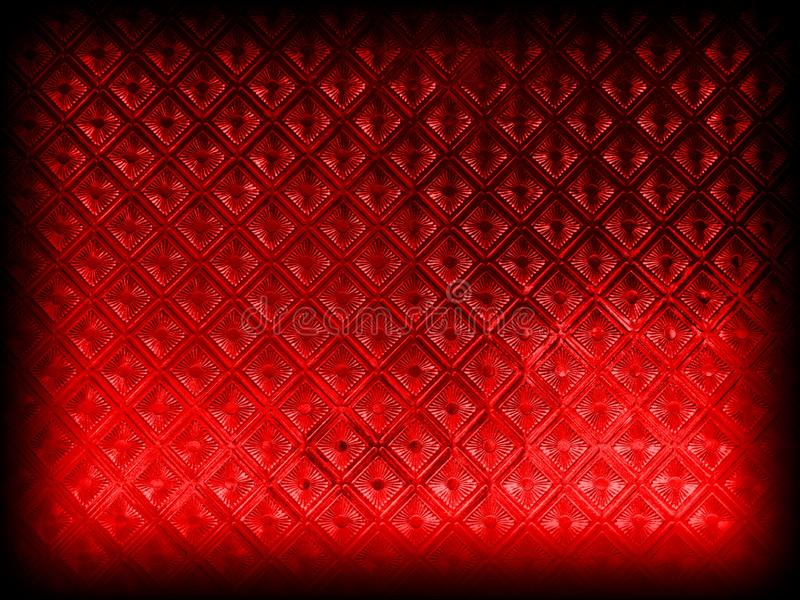 Red background with grunge vintage texture border design and red center. royalty free stock photo