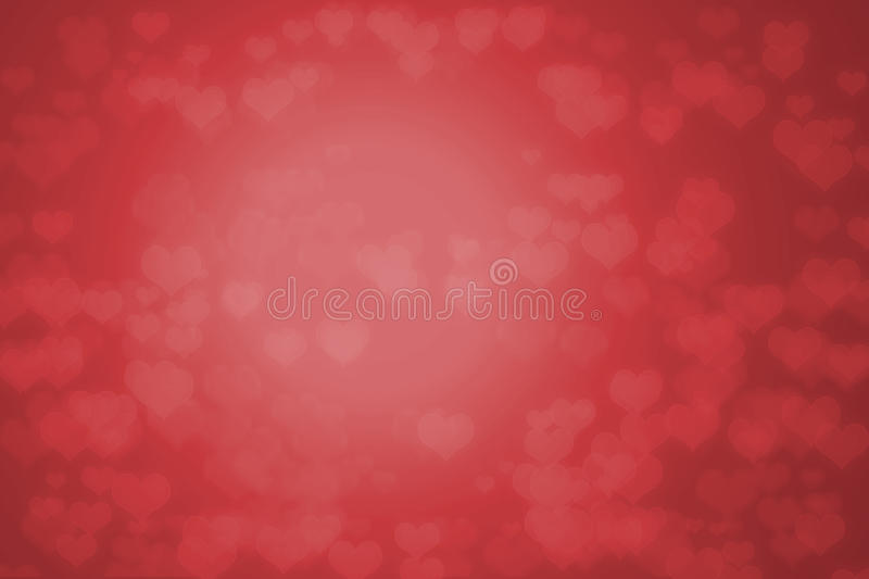 Red background with hearts. Red background filled with out of focus hearts royalty free illustration