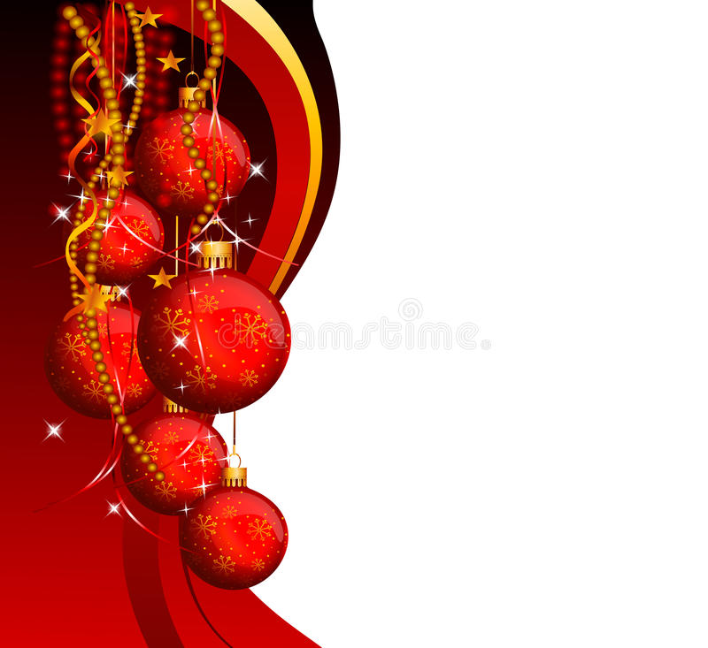 Download Red Background With Jingle Balls Stock Illustration - Image: 26519444
