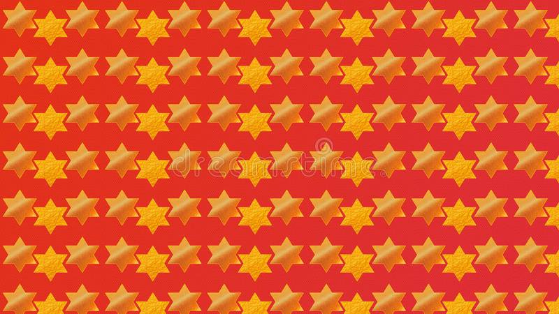 Red Background Magen David. 2016nnRed Abstract Background, Magen David, Holidays - RED background with GOLD Star of David ornament.nIllustration in Red and vector illustration