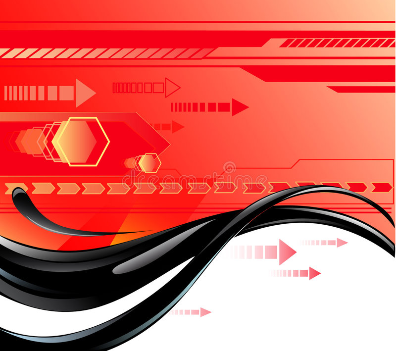 Red Background With Oil Stock Photos