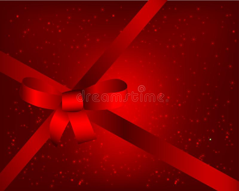 Red background with ribbon stock image