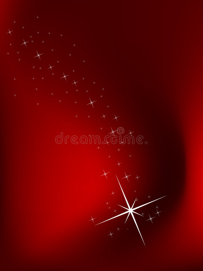 Red background with stars stock images
