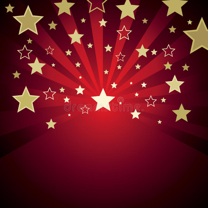 Download Red background with stars stock vector. Image of nobody - 9536891
