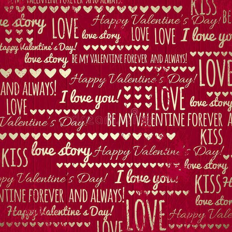 Red background with valentine heart and wishes text royalty free stock photography