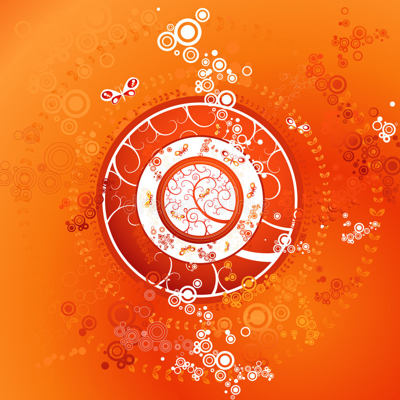 Red background, vector royalty free illustration
