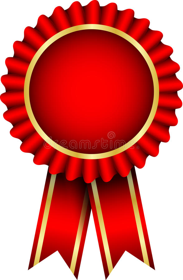 Red Badge Stock Vector Illustration Of Achievement