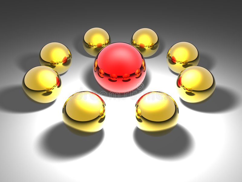 Red ball stock image