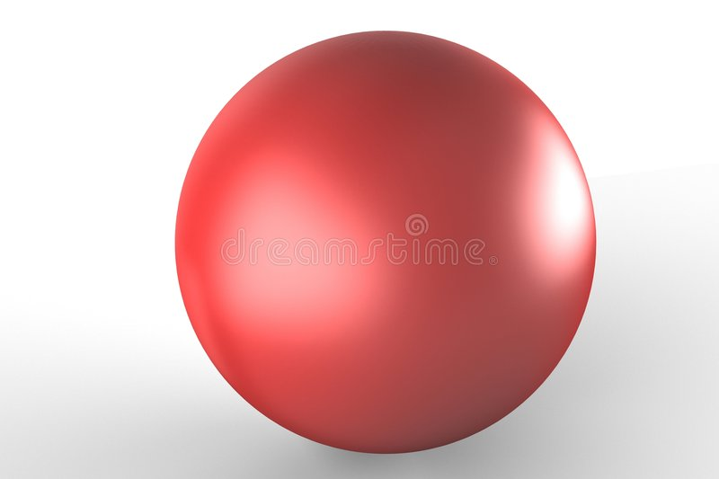 Red ball royalty free illustration