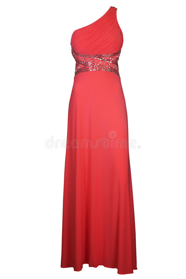 Red ball gown royalty free stock photos